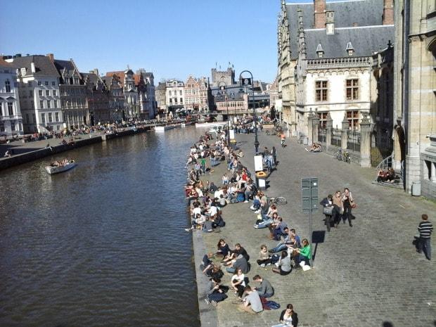 Graslei Gent Belgia