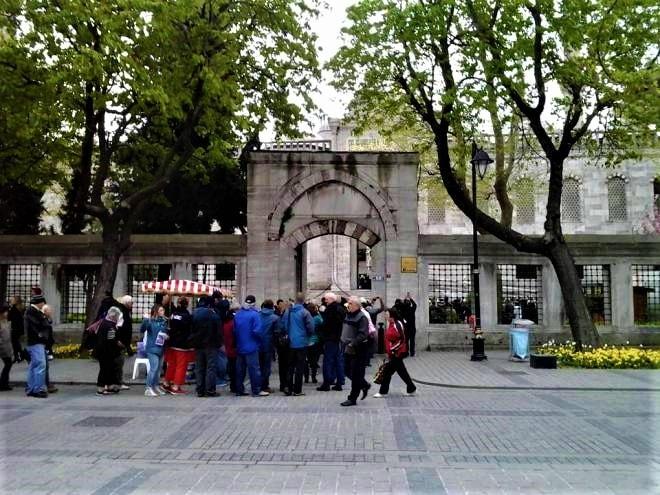 Moscheea Albastră-intrare