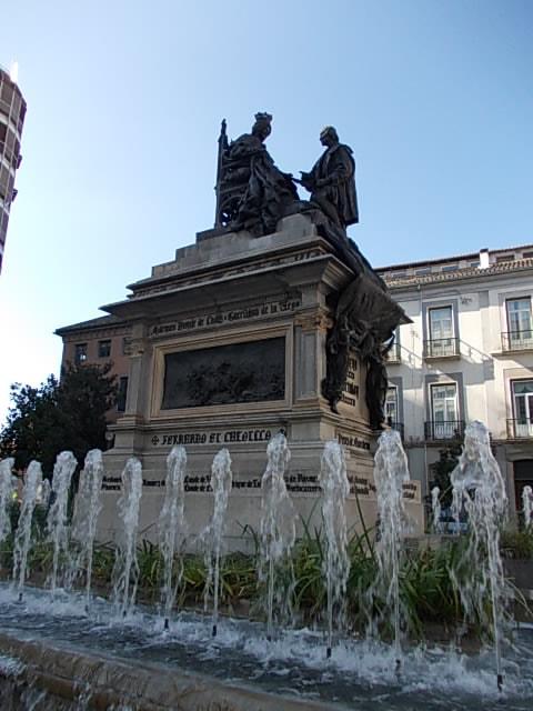Granada. Regina Isabela de Castilia și Cristofor Columb