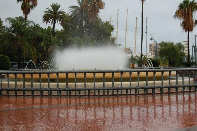 Malaga. lângă port