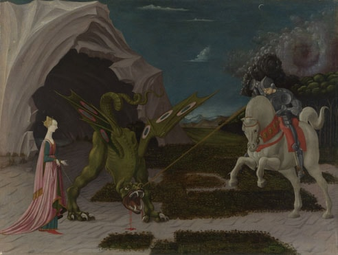 Sf. Gheorghe omorând balaurul - Sursa foto