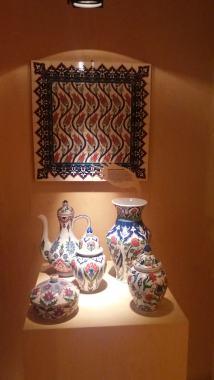 Ceramică turcească cu motive florale