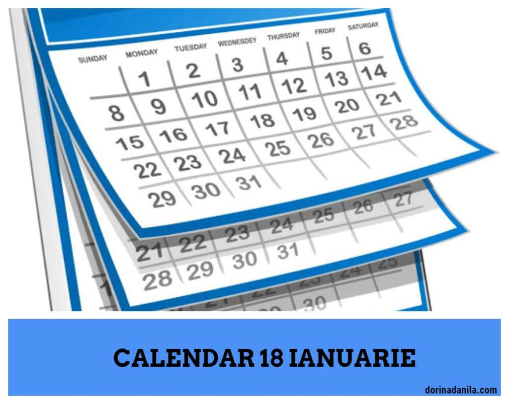 Calendar 18 ianuarie