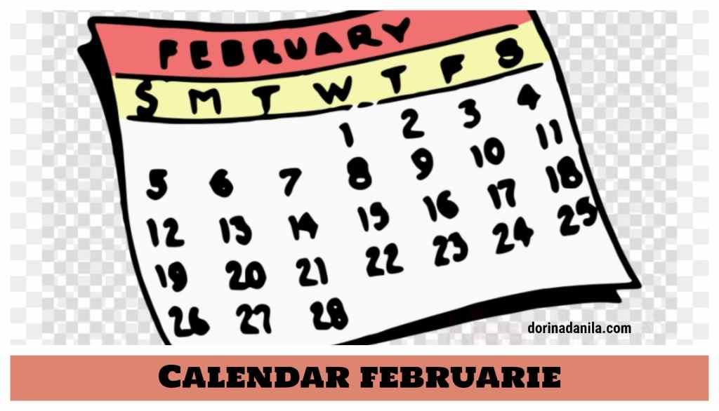 Calendar februarie